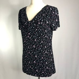 Dress barn womens black blouse Size L